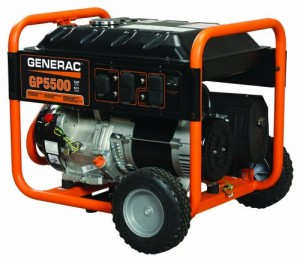 Generac 5939 GP5500 Portable Gas Powered Generator