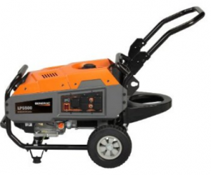 Generac 6001 LP5500 Series 389cc OHV Liquid Propane Powered Portable Commercial and Residential Generator with Tank Holder