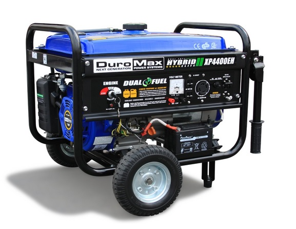 DuroMax XP4400EH 7 HP Dual Fuel PropaneGas Powered Portable Electric Start Generator, 4400-Watt