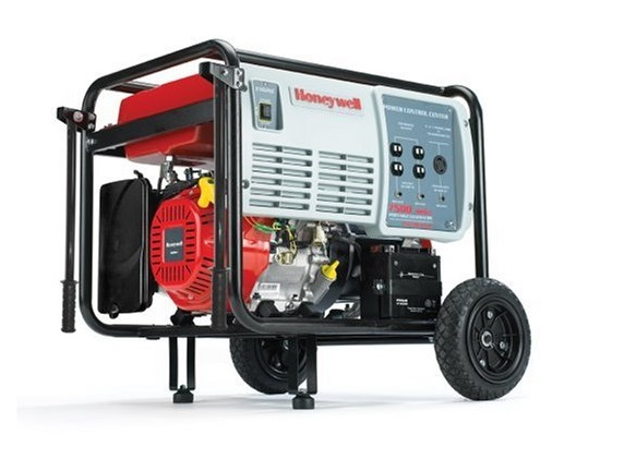Honeywell HW7500E 9375 Watt 15 HP 420cc OHV Portable Gas Powered Home Generator With Electric Start