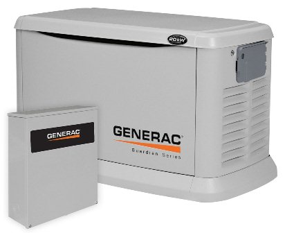 Generac 6244 Air Cooled Liquid Propane Natural Gas Powered Standby Generator